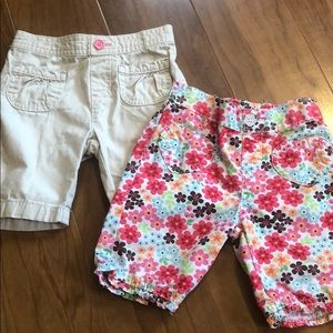 2 pair of baby girl shorts